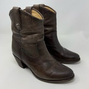 Frye Melissa Button Ankle Boots 7.5 B
